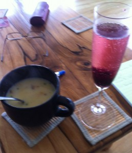 miso and champagne