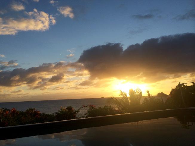 Sunrise overlooking the ocean