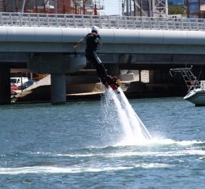 flyboarding fall