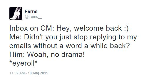 twitter no drama